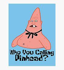 Wen rufst du an? - Spongebob Fotodruck