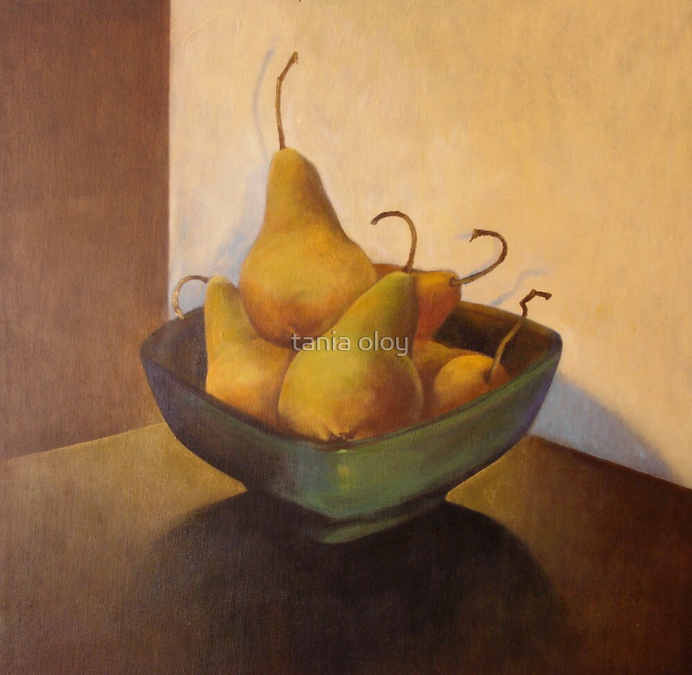 Pears and Vase  by tania oloy