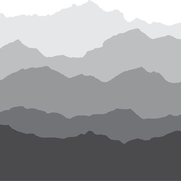 The Mountain Shapes - Vector and Silhouete by kazumaoski