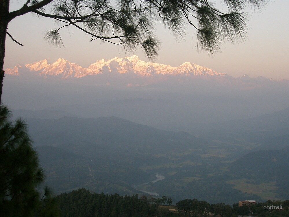 Sunset in the Himalayas by chitrali