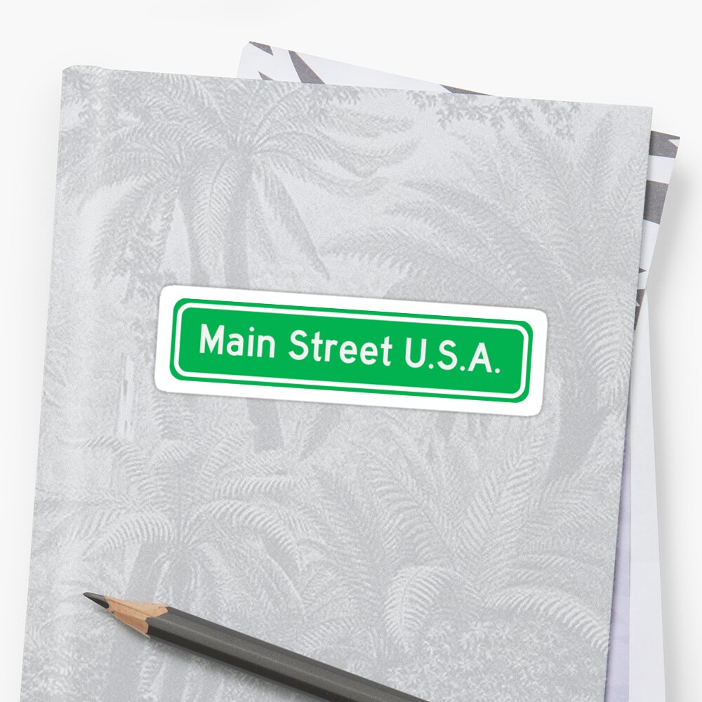 MAIN STREET U.S.A. Sticker