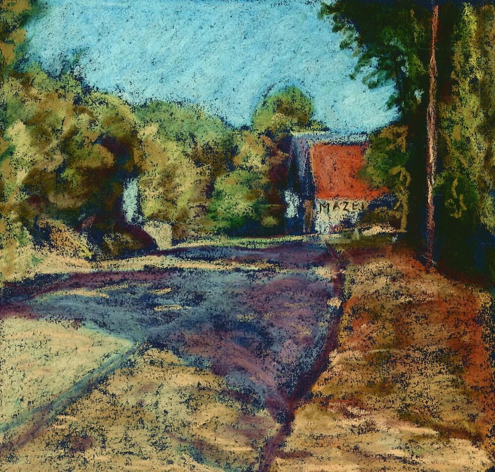 Dordogne Landscape by Judy Adamson