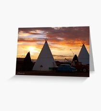 Route 66 Accomodations Greeting Card
