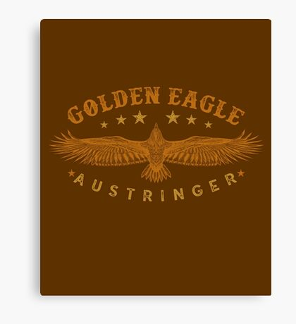 Eagle Austringer's Shirts and GIfts for Falconers Who Fly Golden Eagles in Falconry Canvas Print
