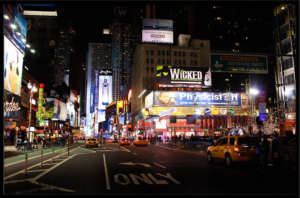 Nighttime at Times Square, NYC by Rdestruction