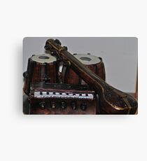 indian classical musical instrument Canvas Print