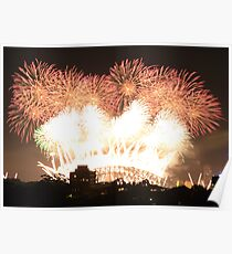 New year fireworks at Sydney harbour bridge Poster
