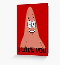 Patrick Loves You - Spongebob Greeting Card