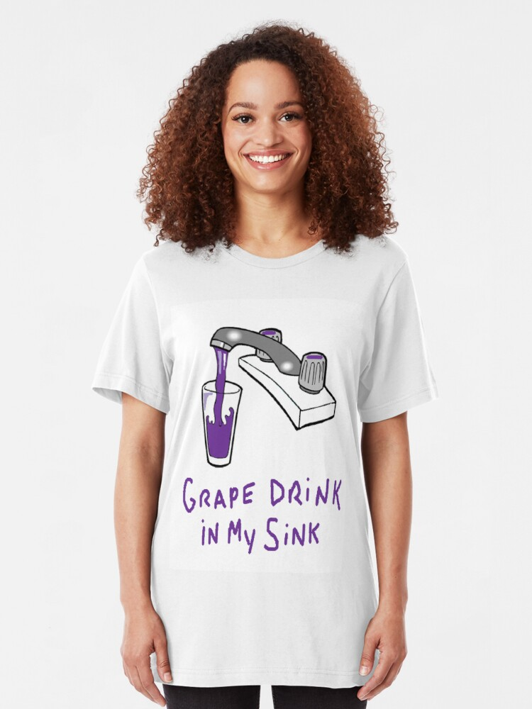 Alternate view of Grape Drink  Slim Fit T-Shirt