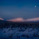 Winter Sunrise on Fish Lake Road by Yukondick