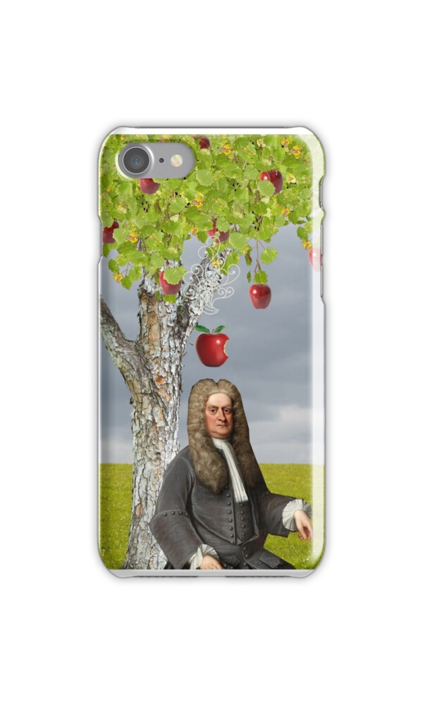 Quot Isaac Newton Apple Tree Quot Iphone Cases Amp Skins By Red Leaf
