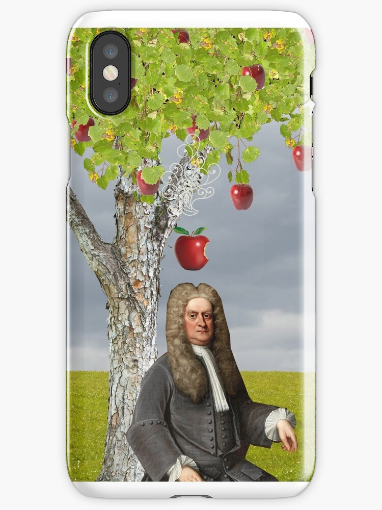 Quot Isaac Newton Apple Tree Quot Iphone Cases Amp Covers By Red