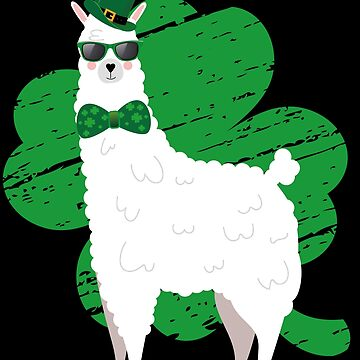 Llama St. Patrick's Day Shamrock by edgyshop
