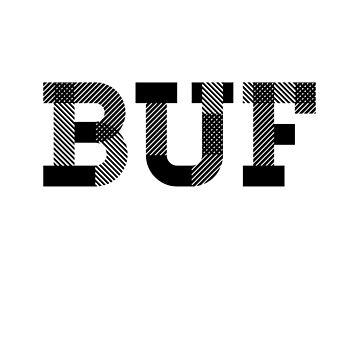 BUFFALO NY BUF Letters by ElizaGraceDance
