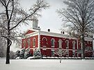 Side View of the Courthouse in the Snow by FrankieCat