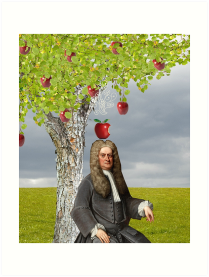Quot Isaac Newton Apple Tree Quot Art Prints By Red Leaf Redbubble