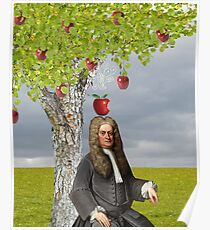 Isaac Newton Apple Tree Poster
