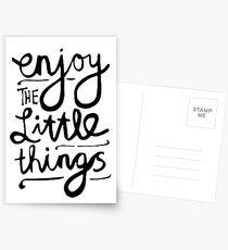 Postales Disfruta las cosas pequeñas