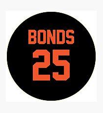 San Francisco Giants Barry Bonds #25 back Photographic Print
