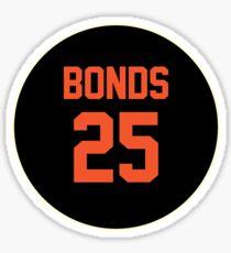 San Francisco Giants Barry Bonds #25 back Sticker