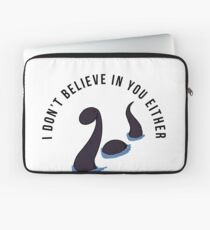 Funny Sarcastic Loch Ness Monster Sayings Quote Birthday Mythical Jokes Laptop Sleeve