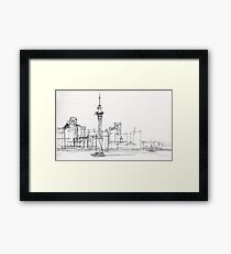 Auckland Silhouette Framed Print