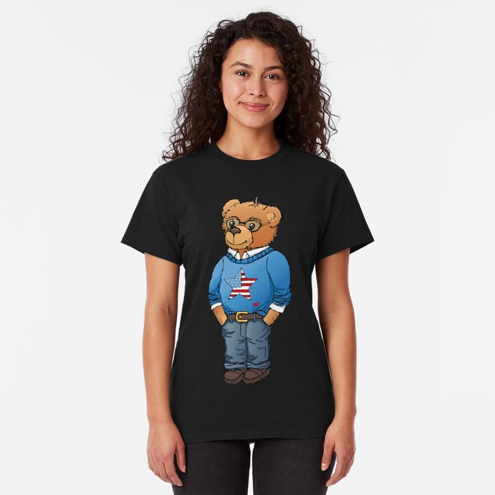 Preppy polo bear hand drawn illustration by Natasha Pankina Classic T-Shirt
