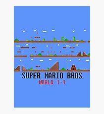 Super Mario Bros. Welt 1-1 Fotodruck