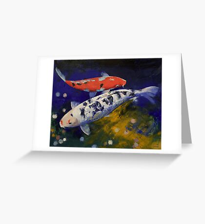 Bekko Koi Fish Greeting Card