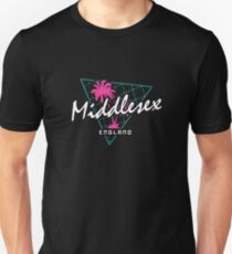 Retro 80s Neon 'Middlesex' Vintage England Unisex T-Shirt