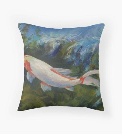 Zen Koi Throw Pillow