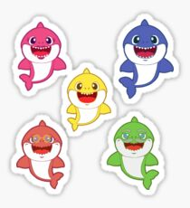 ffc262d0 Baby Shark and Family - Pink Pastel Version Sticker