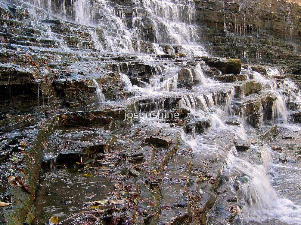 Waterfalls in the autumn by josunshine
