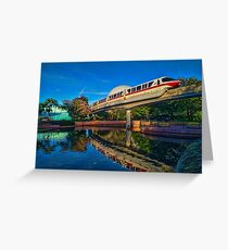 Monorail Red: Reflected at Epcot Greeting Card