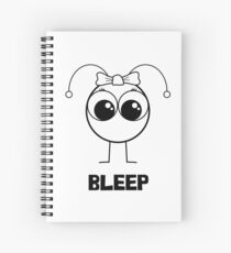 Bleep Girl Spiral Notebook