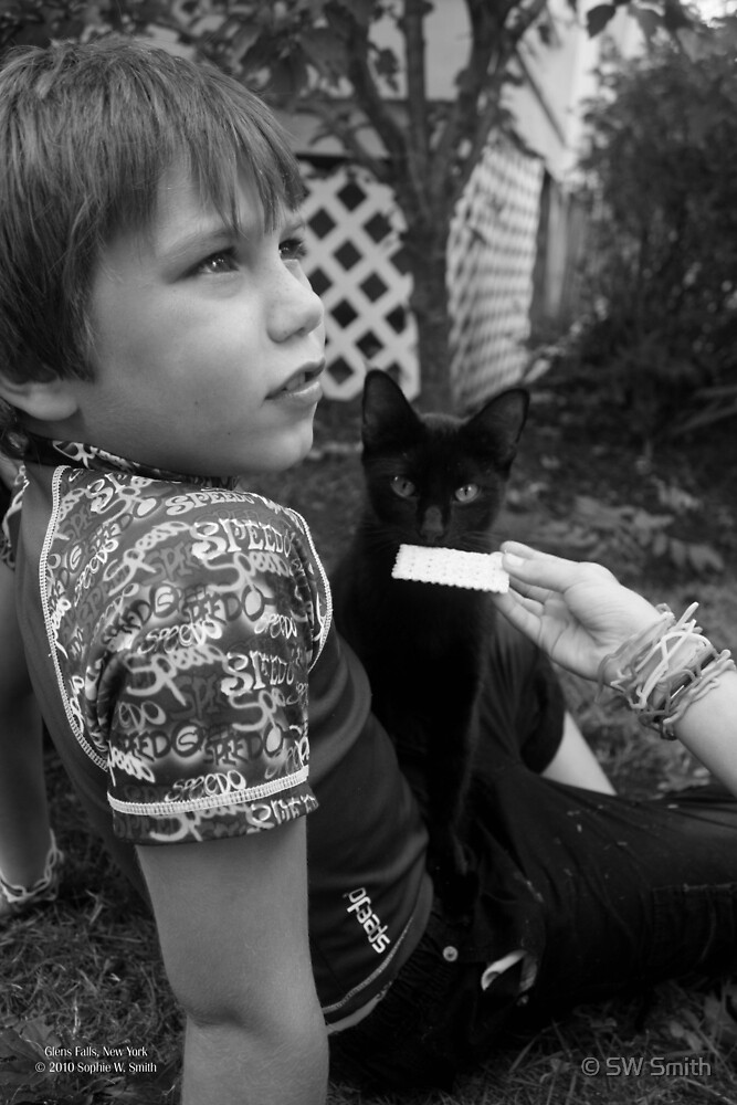 Little Boy And His Black Cat | Glens Falls, New York  by © Sophie W. Smith