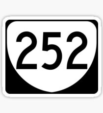 Virginia State Route VA 252 | United States Highway Shield Sign Sticker