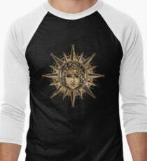 Goldener Apollo-Sonnengott Baseballshirt für Männer
