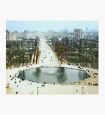 FROM LA ROUE DE PARIS ON BOXING DAY Photographic Print