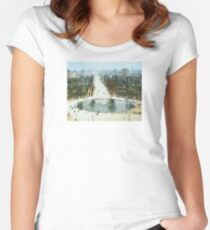 FROM LA ROUE DE PARIS ON BOXING DAY Women's Fitted Scoop T-Shirt