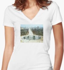 FROM LA ROUE DE PARIS ON BOXING DAY Fitted V-Neck T-Shirt