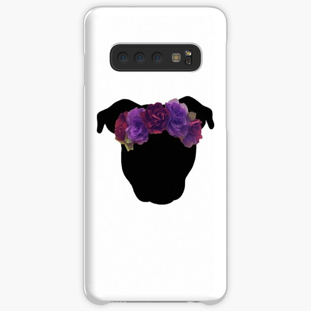 Flower Crown Pittie Case & Skin for Samsung Galaxy