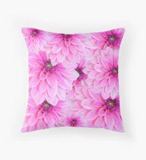 Pink Dahlia Flower Design Floor Pillow