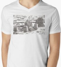 SANDSCAPE (Dillon Beach, California) V-Neck T-Shirt