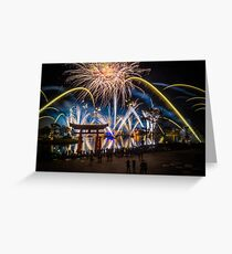 Fireworks from Epcot - Illuminations Reflections of Earth Greeting Card