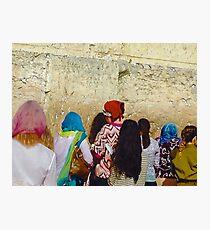 WHISPERED PRAYERS (Western Wall, Jerusalem Israel) Photographic Print