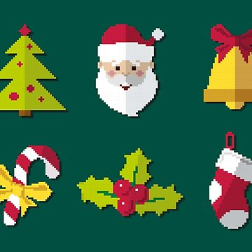 Christmas Pixel Icon by alijun