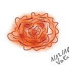 « Fleur rose art contemporain » par VataYellowSeed