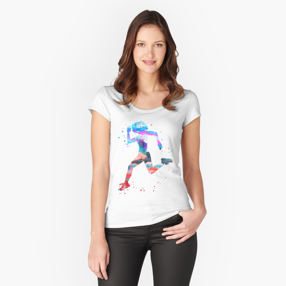 Jogger girl Fitted Scoop T-Shirt