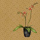 Oriental origami orchid. by cardwellandink